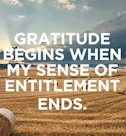 gratitude entitlement