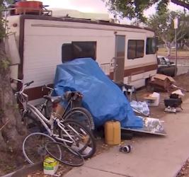 homeless motor homes